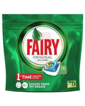 Fairy ταμπλέτες πιατών all in one original 16τεμ (εισ.)