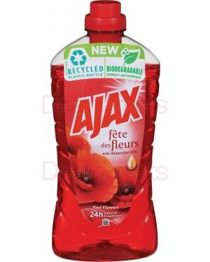 Ajax υγρό γενικού καθαρισμού red flowers κόκκινο 1l