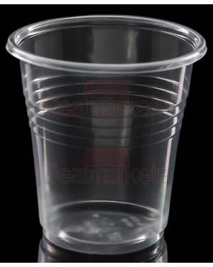 Lariplast ποτήρια crystal διάφανα ελλ. καφέ 130ml 50τεμάχια