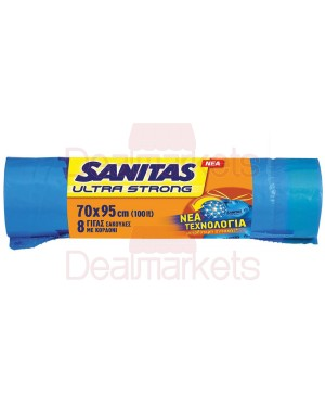 Sanitas σακουλές απορριμμάτων ultra strong με κορδόνι γίγας 70χ95