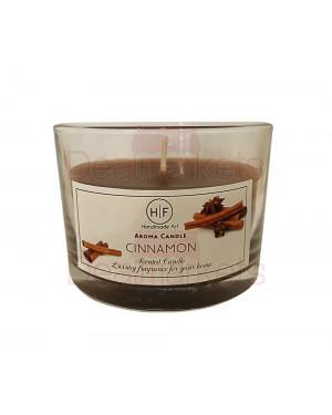 Hf κερί σε χαμηλό ποτ. άρωμα κανέλα 30 ωρών (120gr) 20,5cl ελλ.