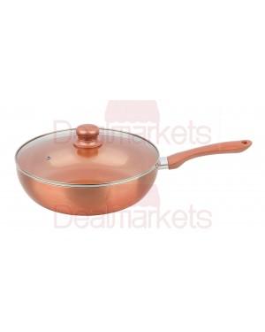 Keystone τηγάνι βαθύ αλουμινίου κεραμικό copper επαγωγικό νο 28