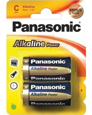 Panasonic bronze αλκαλική μπαταρία c (2τεμ)