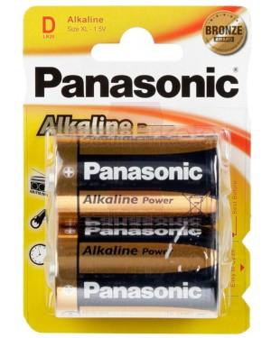 Panasonic bronze αλκαλική μπαταρία d (2τεμ)