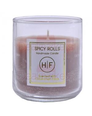 Αρωματικό κερί σε ψηλό ποτήρι 38 ωρών κανέλα (140gr) (ελλ.)