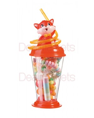 Woogie παιδικό ποτήρι με καλαμάκι & ζαχαρώδη 70gr