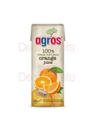 """Χυμός Φυσικός Πορτοκάλι 100% """"Agros"""" 250ml"""