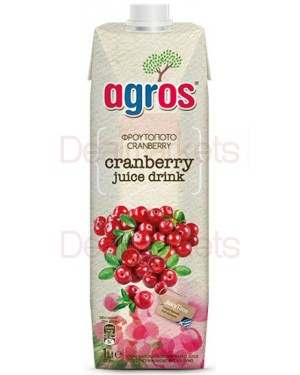 Χυμός Φρουτοποτό Cranberry Agros 1L