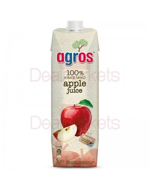"""Χυμός Φυσικός Μήλο """"Agros"""" 1L"""