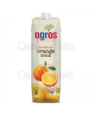 Χυμός Φρουτοποτό Πορτοκάλι Agros 1L