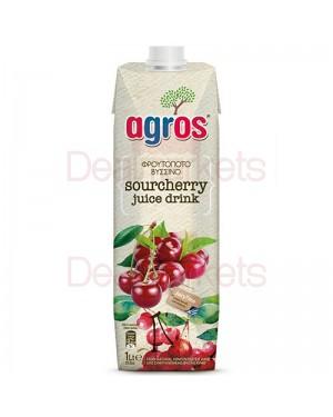 Χυμός Φρουτοποτό Agros Βύσσινο 1L