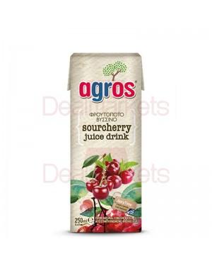 """Χυμός Φρουτοποτό """"Agros"""" Βύσσινο 250ml"""