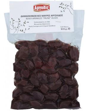 Δαμασκηνιελιές μαύρες Αργολίς (λίγο αλάτι) Νο 71 500gr