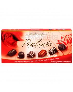 Σοκολατάκια πραλίνας red Maitre Truffout κασετίνα 400gr