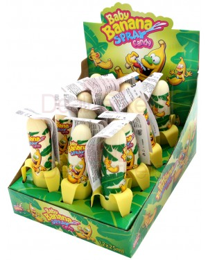 Candy Spray με γεύση μπανάνας display 25ml
