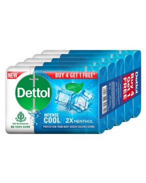 Dettol σαπούνι cool menthol 4+1 δώρο 125gr (εισ.)