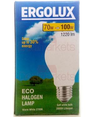 Λάμπα αλογόνο Ergolux λευκή Ε27-70 / 100W βιδωτή