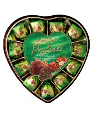 Σοκολατάκια υγείας Maitre Truffout με φουντούκι Καρδιά 165gr