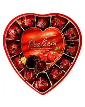 Σοκολατάκια υγείας Maitre Truffout με λικέρ κεράσι Καρδιά 140gr