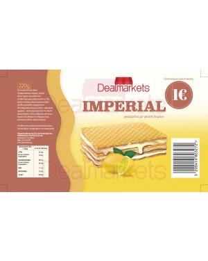 Γκοφρέτα Imperial με λεμόνι 220gr
