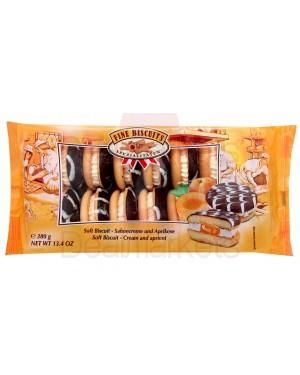 Μπισκότο σάντουιτς με κρέμα βερίκοκο 380gr