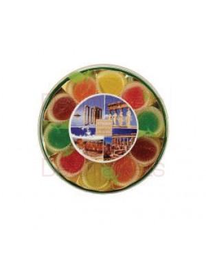 Ζελεδάκια με φρούτα Rovelli στρογγυλή κασετίνα 200gr