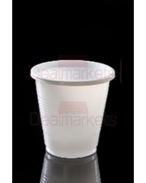 Ποτήρι ελληνικό λευκό σετ 50 τεμαχίων χωρητικότητας 130ml
