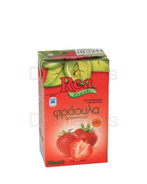 Χυμός Φρουτοποτό Φράουλα Ρέα 250ml