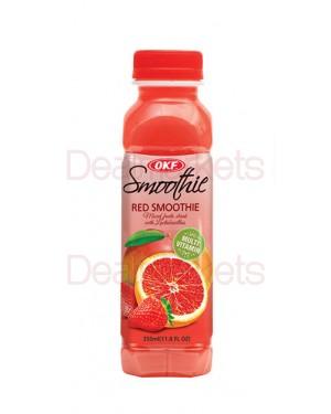 Smoothie Okf grape, strawberry, mango 350 ml (Κόκκινο)