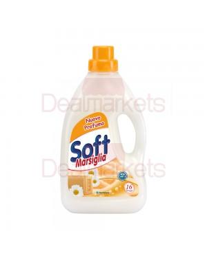 Απορρυπαντικό πλυντηρίου υγρό Soft Μασσαλίας 16 μεζ στο 1lt