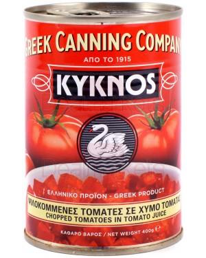 Ντομάτες ψιλοκομμένες KYKNOS σε χυμό ντομάτας 400gr