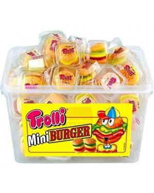 Ζελεδάκια Trolli miniburger σε τάπερ 10gr 50τεμ