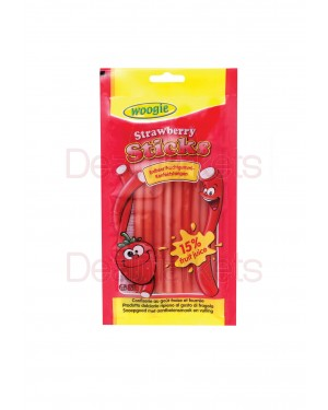 Καραμέλες Woogie sticks γεύση φράουλας 85gr
