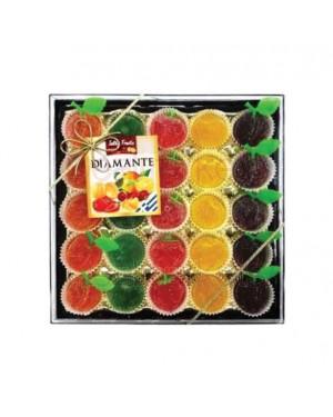 Ζελεδάκια με φρούτα Rovelli Diamante τετράγωνη κασετίνα 200gr