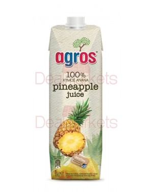 Χυμός Φυσικός Ανανά Agros 1L