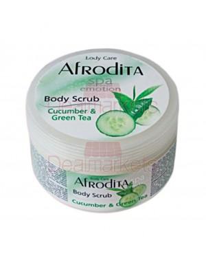 Afrodita Body Scrub Αγγούρι-Τσάι 350ml