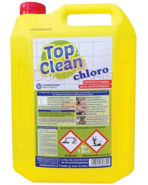Top clean χλωρίνη ultra παχύρευστη λεμονί 4l