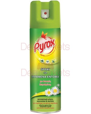 Pyrox εντομοκτόνο με φυσικές πυρεθρίνες σε σπρέι 300ml