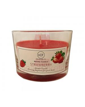 Hf κερί σε χαμηλό ποτ. άρωμα φράουλα 30 ωρών (120gr) 20,5cl ελλ.