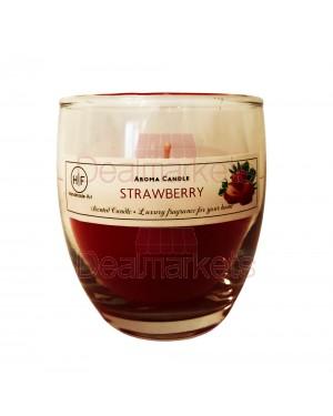 Hf κερί σε ψηλό ποτ. άρωμα φράουλα 30 ωρών (120gr) 24,5cl ελλ.