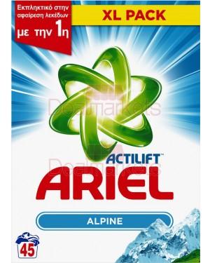 Σκόνη πλυντηρίου Ariel alpine 45μεζ