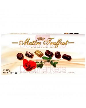 Σοκολατάκια πραλίνας rose Maitre Truffout κασετίνα 400gr