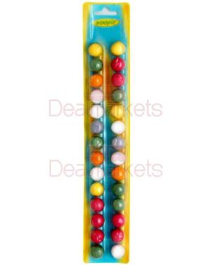 28 τσίχλες σε σχήμα μπαλίτσας διάφορα χρώματα