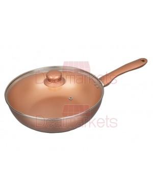Wok Keystone κεραμικό Copper επαγωγικό Νο28 M.K.