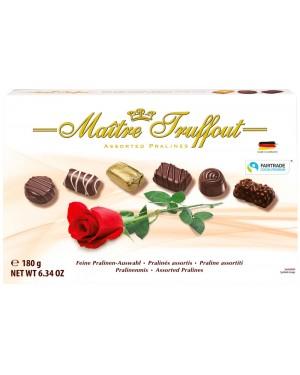 Πραλίνες ασορτί Maitre Truffout (Τριαντάφυλλο) 180gr