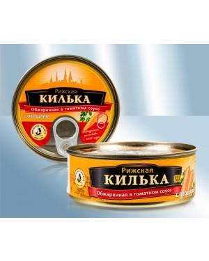 Σαρδελορέγκα Τηγανιτή Brivais Vilnis σε σάλτσα τομάτας με καρότα 240gr