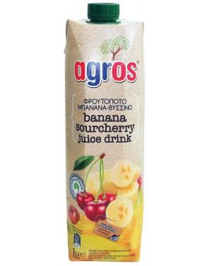 Φρουτοποτό Agros μπανάνα βύσσινο 1L