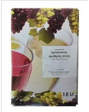 Οινοτρόπιο οίνος ερυθρός ημίγλυκος σε ασκό 10l