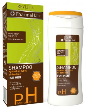 Revuele pharma hair ανδρικό σαμπουάν κατά της τριχόπτωσης 200ml