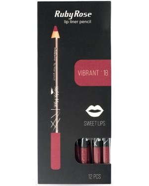Ruby rose μολύβι χειλιών 095 νο18 (vibrant) display 12τεμ
